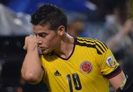 O atacante James Rodriguez