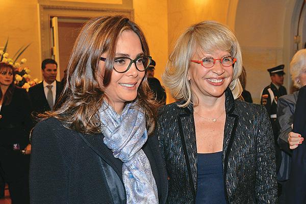 As ministras Gina Parody (Educação) e Cecília Álvares (Turismo)