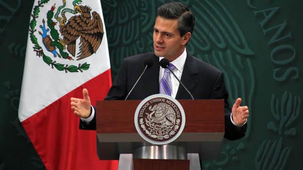 O presidente Enrique Peña Nieto em apresentação da ONU (Foto: Reuters)