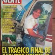 Capa de revista com a morte de Menem Jr. (Foto: Reprodução)