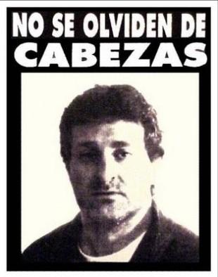 Cartaz pedindo justiça por Cabezas (Foto: Reprodução)