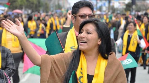 A prefeita eleita de El Alto, Soledad Chapetón (Foto: La Razón)