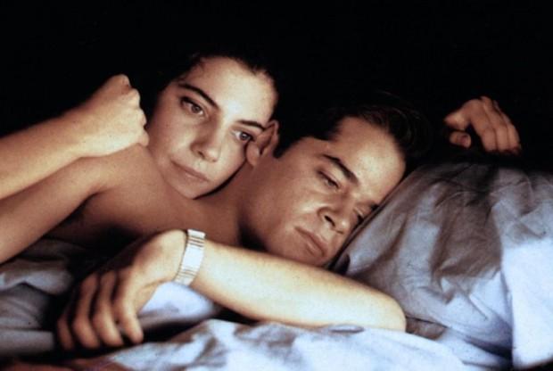 """Cena de """"Os Amantes"""" (1991), com Maribel Verdú e Jorge Sanz"""