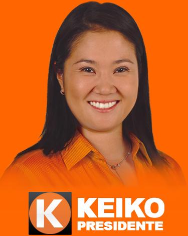 Publicidade de Keiko Fujimori (Foto Divulgação)