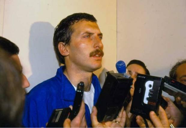 Mauricio Macri, no dia em que foi liberado pelos sequestradores, em 1991 (Foto: La Nación)