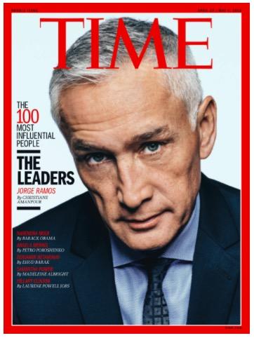 """Capa da revista """"Time"""" com Jorge Ramos (Foto Divulgação)"""