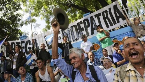 Protesto contra a construção do canal na Nicaragua (Foto ABC)