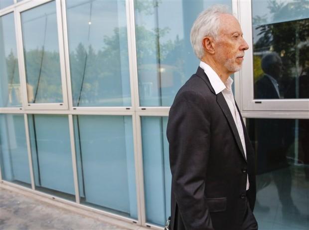 O escritor sul-africano J.M. Coetzee, em Buenos Aires (Foto La Nación)