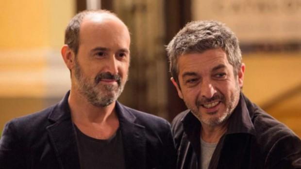 """Os atores Javier Cámara e Ricardo Darín, em cena de """"Truman"""""""