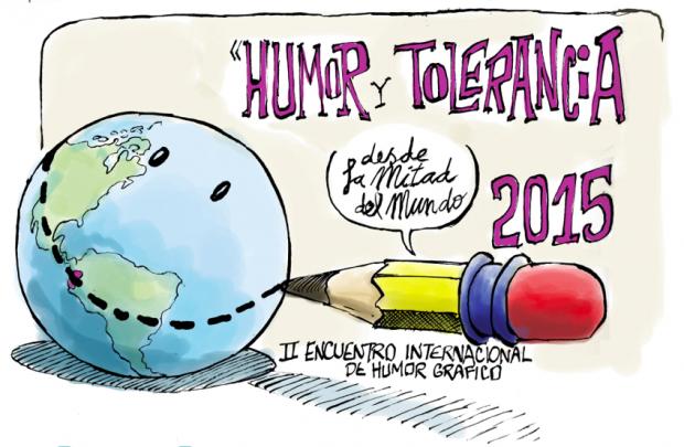 Cartaz de propaganda do encontro de humoristas no Equador (Foto Divulgação)