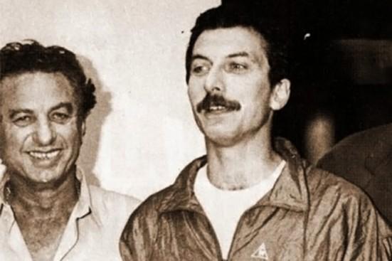 Mauricio Macri, ao ser liberado após sequestro, em 1991 (Foto Clarín)