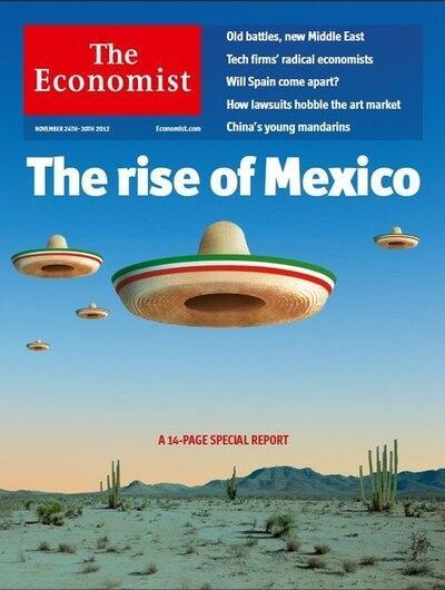 """Capa da """"Economist"""" comentando o bom desempenho da economia mexicana (Foto Divulgação)"""
