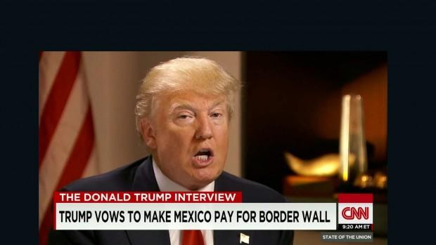 Donald Trump atacando mexicanos na TV (Foto Reprodução)