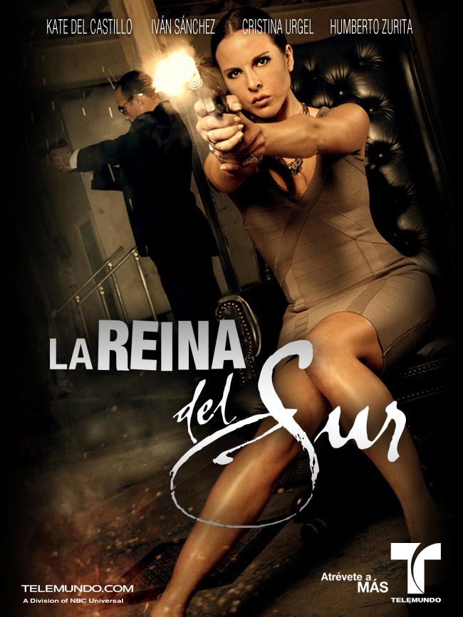 """A atriz Kate del Castillo em pôster de promoção de """"La Reina del Sur"""" (Foto Divulgação)"""