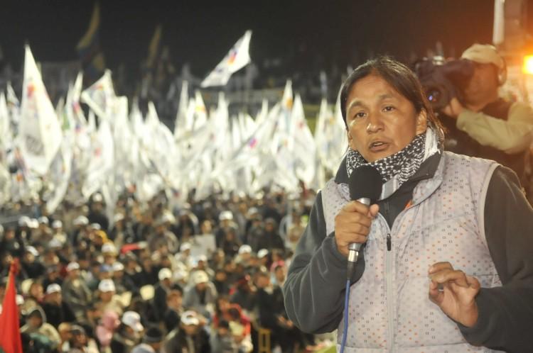 A líder jujenha Milagro Sala (Foto Clarín)