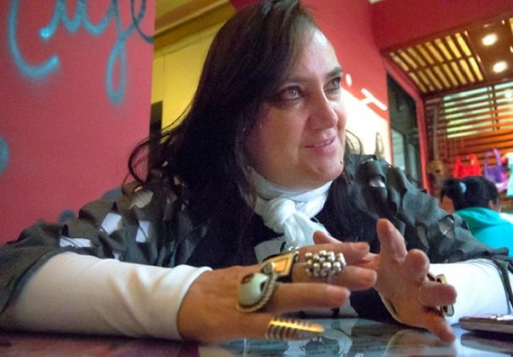 A ativista e cineasta Maria Galindo, que mostra filme hoje em São Paulo (Foto Divulgação)