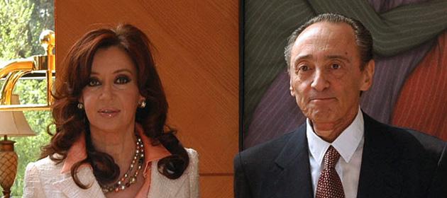 Cristina Kirchner com o empresário Hector Magnetto, do Clarín (Foto Clarín)