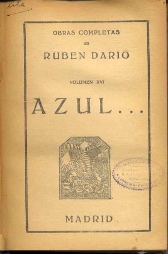 """Edição antiga de """"Azul"""", sua primeira obra a ganhar grande projeção internacional (Foto Reprodução)"""