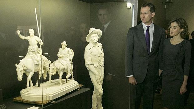Os reis da Espanha visitam exposição em homenagem a Cervantes, em Porto Rico (Foto El País)