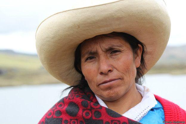 A ativista peruana Maxima Acuña de Chaupe (Foto El Comercio)