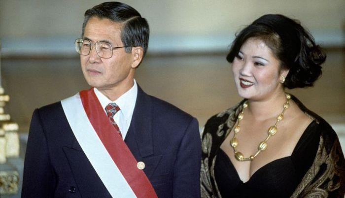 Keiko Fujimori como primeira-dama do Peru, cargo que assumiu ainda com 18 anos (Foto Arquivo)