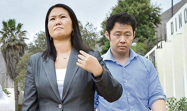 Os irmãos Keiko e Kenji Fujimori (Foto El Comércio)