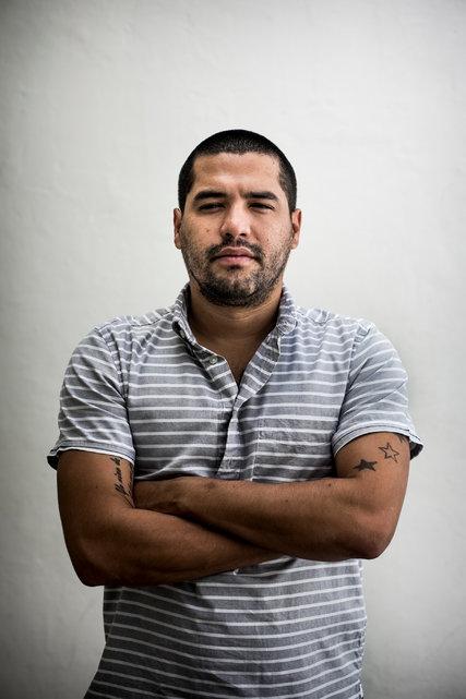 """O jornalista Óscar Martínez, do """"El Faro"""" (Foto Divulgação)"""