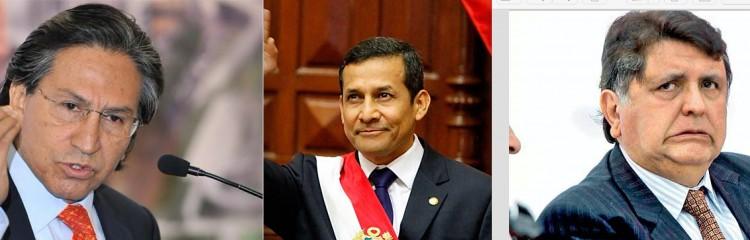 Alejandro Toledo, Ollanta Humala e Alan García (Fotos Reuters)