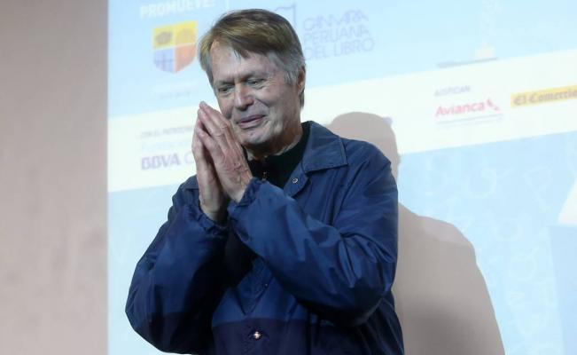 O Nobel Le Clézio, em Lima (Foto Reuters)