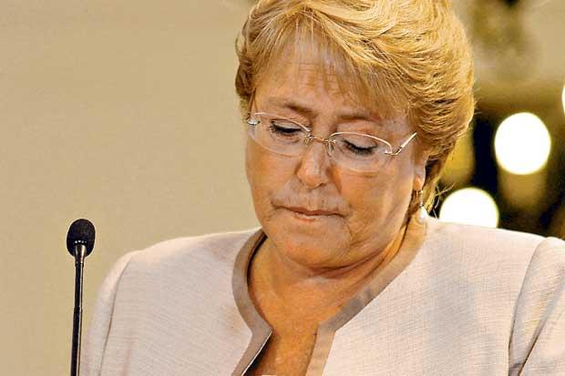 A presidente chilena Michele Bachelet (Foto La Tercera)