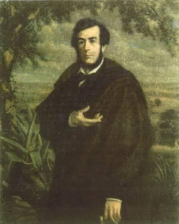 O escritor Esteban Echeverría (Foto Reprodução)