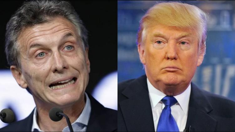 O argentino Mauricio Macri e o norte-americano Donald Trump (Foto Arquivo)