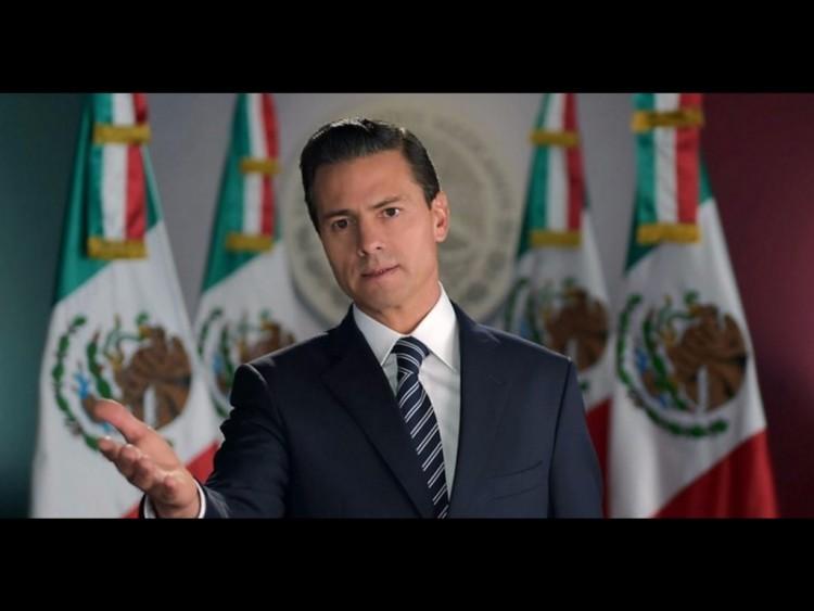O presidente mexicano, Enrique Peña Nieto, em pronunciamento oficial (Foto Divulgação)