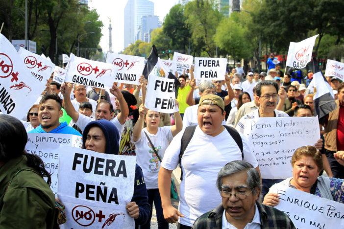 Manifestações anti-Peña Nieto, na Cidade do México (Foto El Universal)